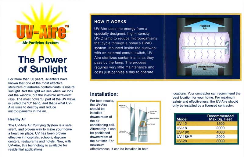 UV-Aire brochure